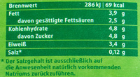 Frische Weidemilch - Informations nutritionnelles - de