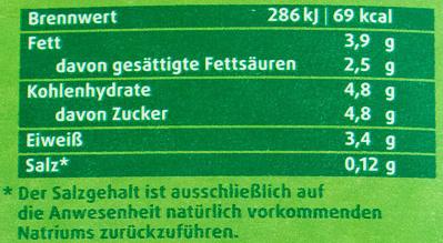 Frische Weidemilch - Nutrition facts
