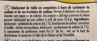 SUGAREL Édulcorant de table en comprimés - Ingrédients - fr