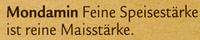 Feine Speisestärke - Ingredients