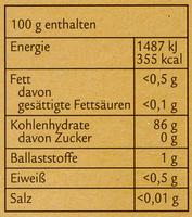 Feine Speisestärke - Nutrition facts