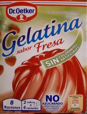 Preparado para Gelatina sabor fresa - Producto