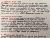 Tavuk burger - Ingredients