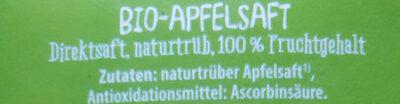 Apfelsaft Direktsaft, naturtrüb (Gut bio) - Ingredients - de