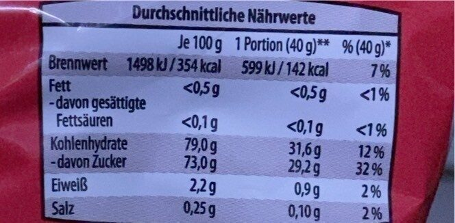 Apfel Chips - Jonathan Äpfel - Informations nutritionnelles - de