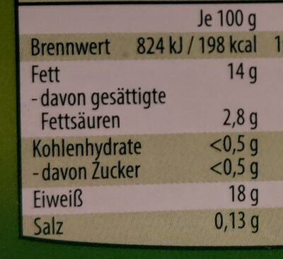 Lachsfilets Naturbelassen - Informations nutritionnelles - de