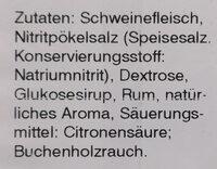 Frühstücksschinken über Buchenholz geräuchert - Ingredients