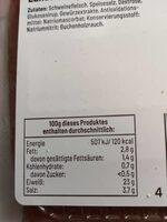 Radeberger Landschinken - Nährwertangaben - de