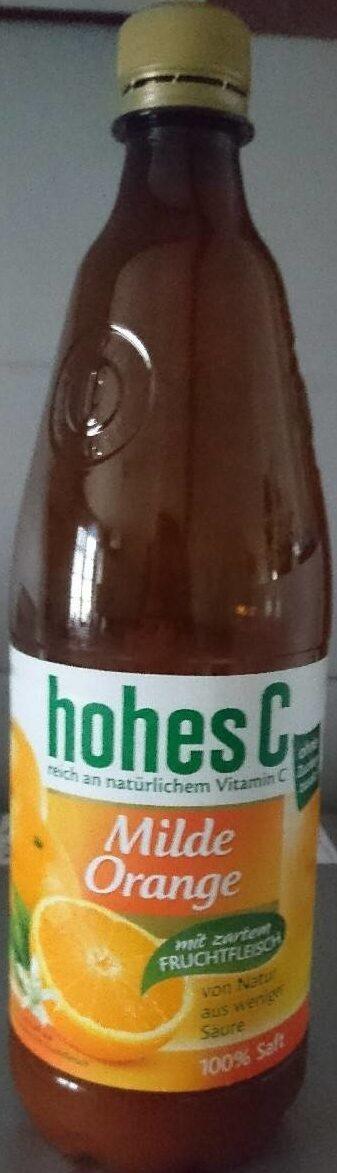 Hohes C Milde Orange , Mit Zartem Fruchtfleisch Saft - Product - de