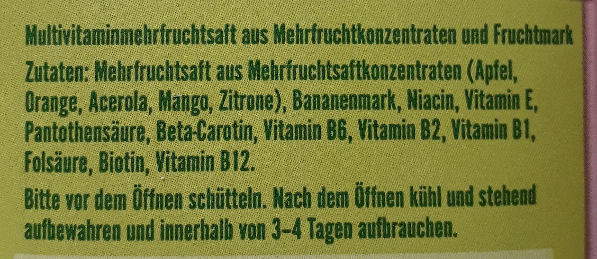 Milder Multi-vitamin - Ingredients - de