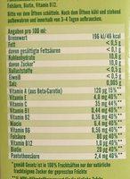 Milder Multi-vitamin - Nutrition facts - de