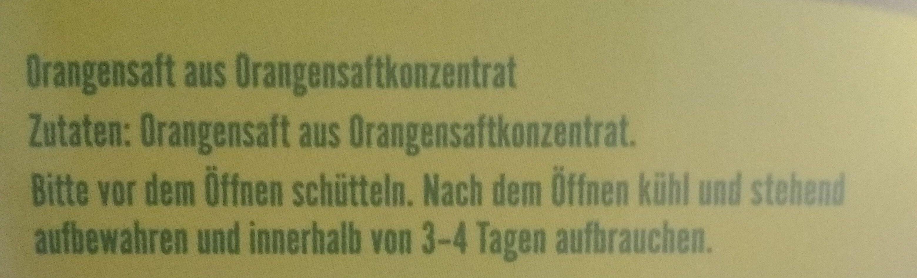 Orangensaft - Ingrediënten - de