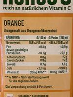 Orangensaft - Voedingswaarden - de