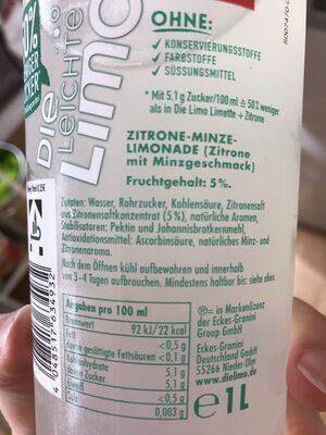 Die leichte Limo - Ingredients