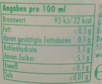Die Limo Leicht Zitrone-Minze - Nährwertangaben - de