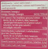 Tasse Instant Asia - Voedingswaarden