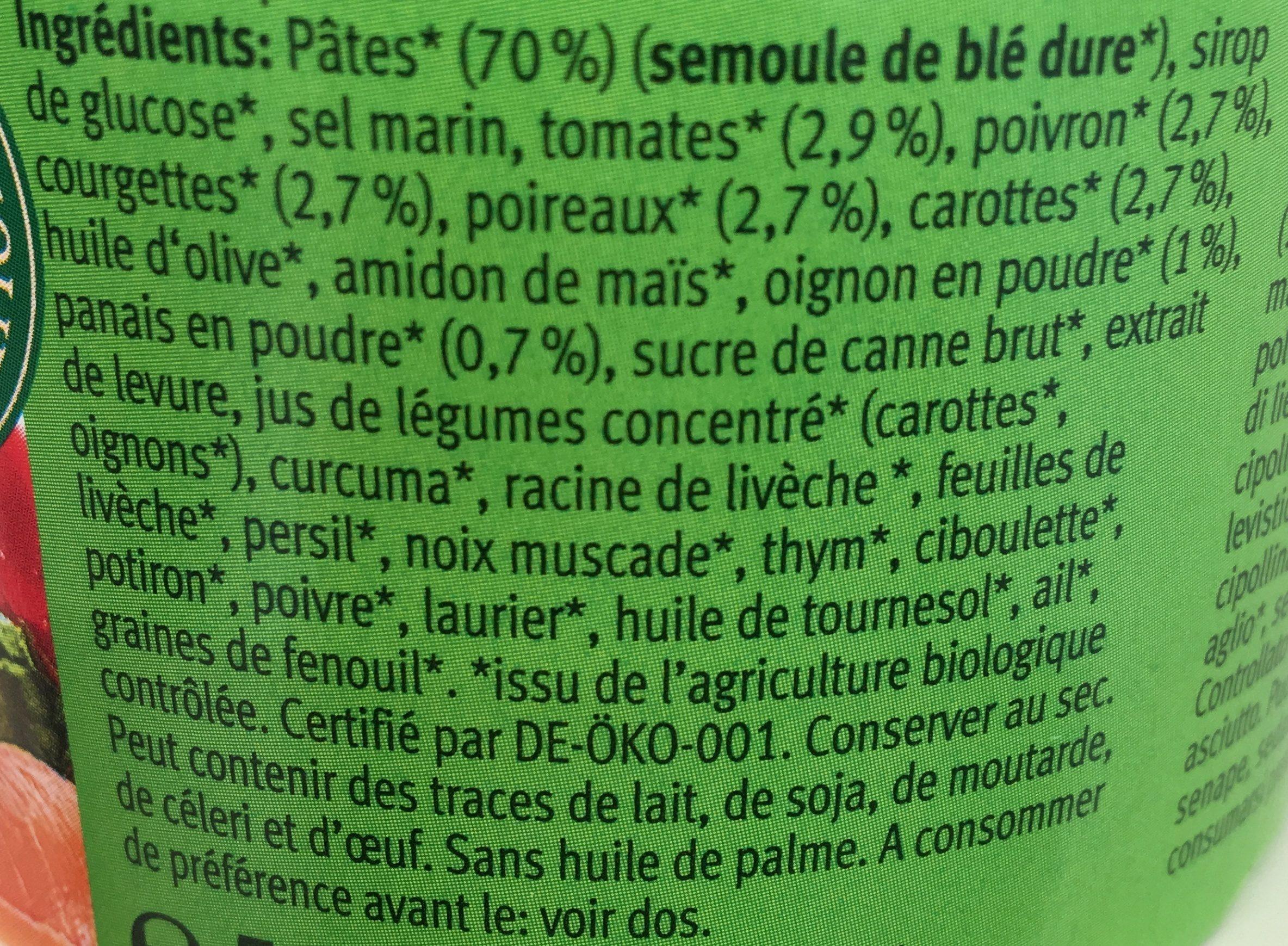 VEGGIE NOODLE SOUP POT INSTANTANEE - Ingrediënten - fr