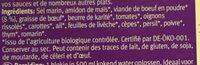 Bouillon avec viande de Boeuf - Ingredients - fr