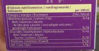 Bouillon avec viande de Boeuf - Nutrition facts - fr