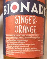 Bionade Jengibre Naranja - Nutrition facts - fr