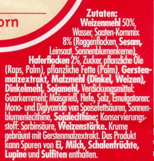 Bagels 4-Korn - Ingredients