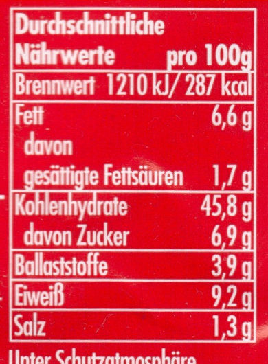 Bageld - Nutrition facts