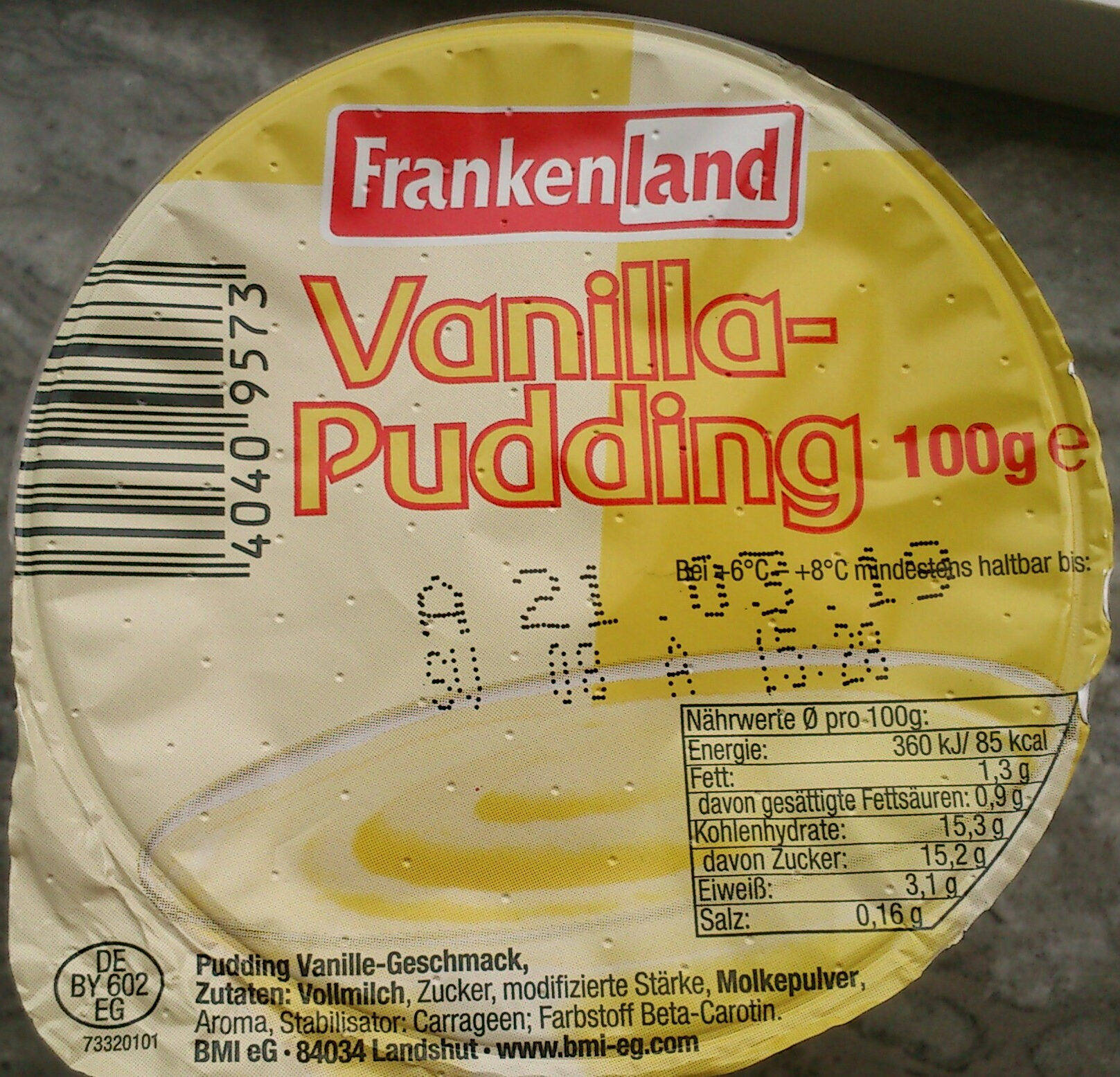 Vanilla-Pudding - Produit - de