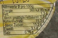 Vanilla-Pudding - Informations nutritionnelles - de
