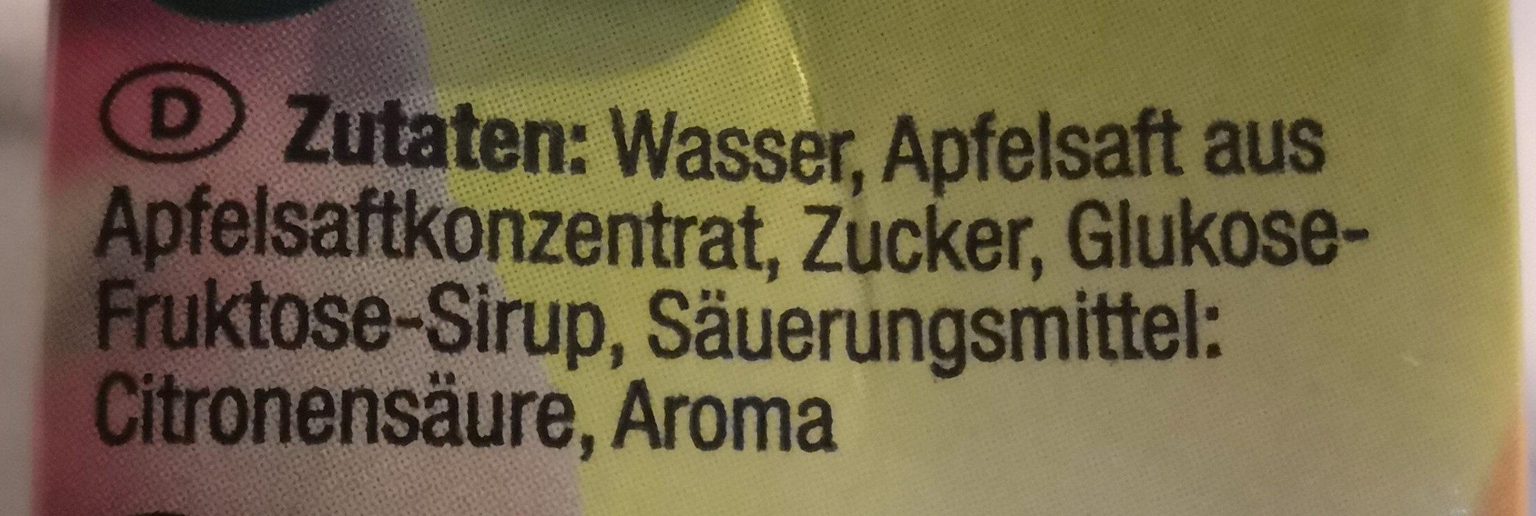 Apfel Erfrischungsgetränk - Zutaten - de