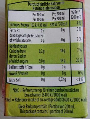 Apfel Erfrischungsgetränk - Nährwertangaben - de