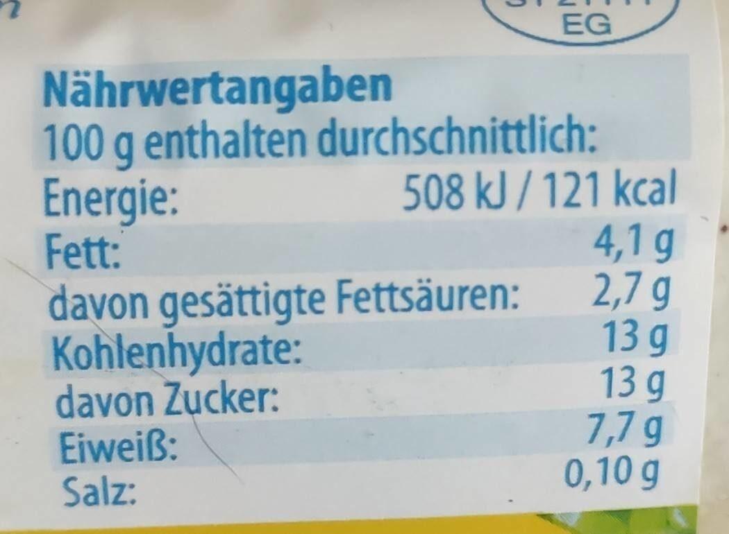 Milch-Quark - Valori nutrizionali - de