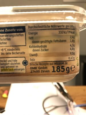 Frühlings Quark - Nutrition facts