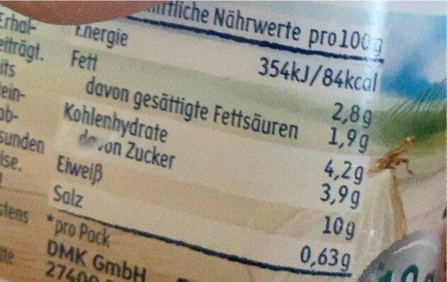 Frühlingsquark - Nutrition facts - en