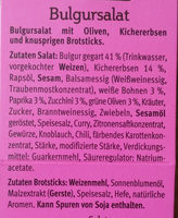 Bulgursalat - Ingredients - de