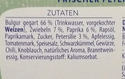 Kühlmann Bulgursalat - Zutaten - de