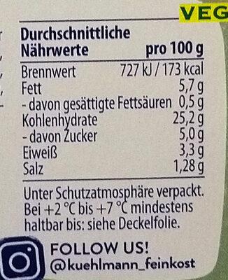 Kühlmann Bulgursalat - Nährwertangaben - fr