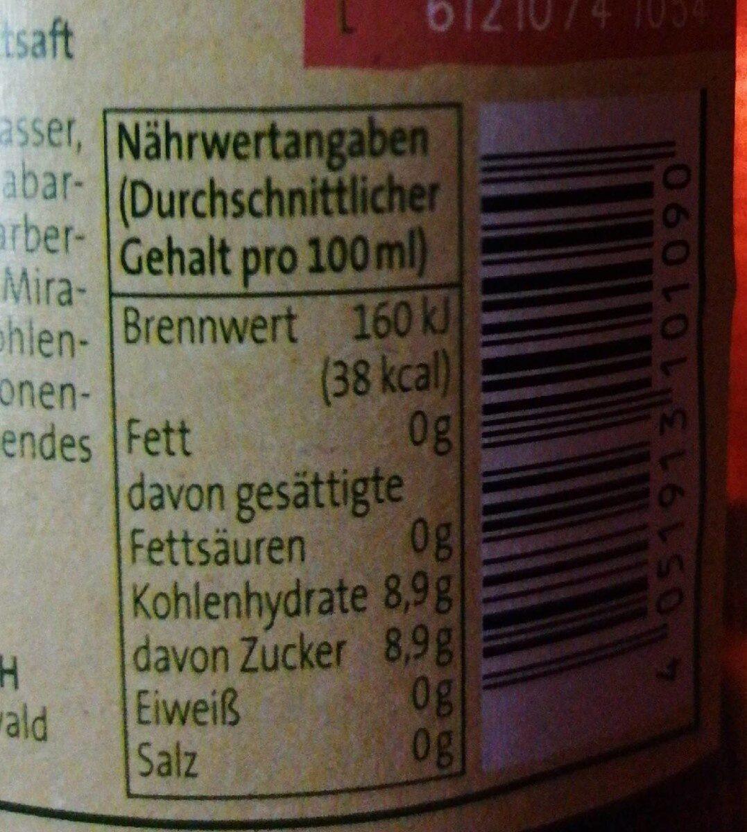 Genuss limonade - Informations nutritionnelles - de