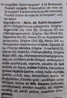 Coquilles Saint-Jacques à la Bretonne - Ingredients