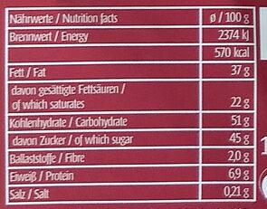 Frohe Weihnachten - Informations nutritionnelles - de