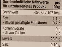 Geschnetzeltes aus dem Hähnchenbrustfilet geschnitten, frisch - Informations nutritionnelles - de