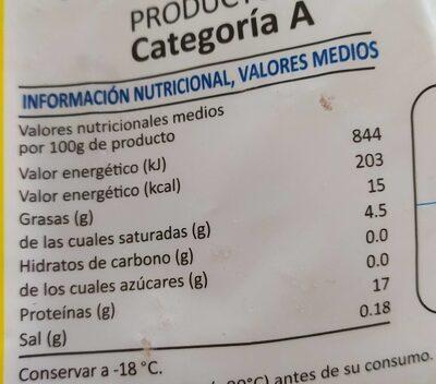 Cuartos traseros de pollo - Nutrition facts - es