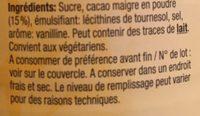 Préparation en Granulés pour boisson cacaotée - Ingrediënten - fr