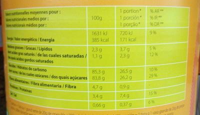 Préparation en Granulés pour boisson cacaotée - Voedingswaarden - fr