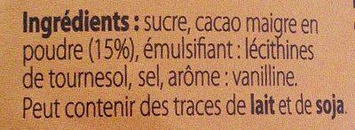 Granulés cacaotés - Ingrédients - fr