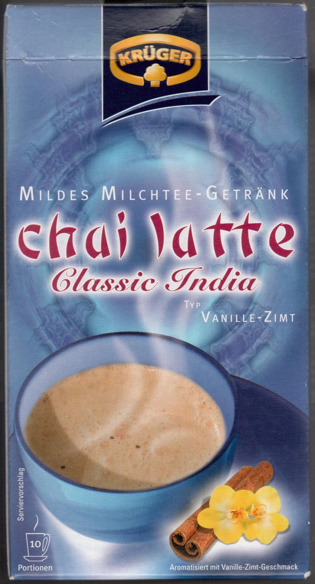 Chai latte Classic India - Typ Vanille-Zimt - Produit - de