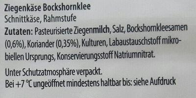 Ziegenkäse Bockshornklee - Ingrediënten - de
