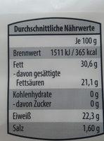 Ziegenkäse Bockshornklee - Voedingswaarden - de