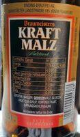 Kraft Malz - Informations nutritionnelles - de