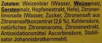 Schöfferhofer Zitrone - Ingrédients