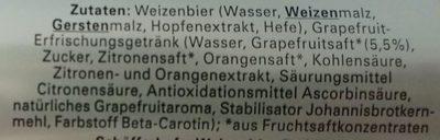 Schöfferhofer Grape Fruit - Ingredientes - de